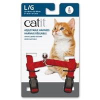 Harnais réglable en nylon Catit, rouge, grand