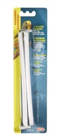 Perchoirs Living World en plastique, long. 20 cm, diam. 9,5 mm, paquet de 2