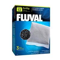 Charbon activé pour filtre à moteur Fluval C2, paquet de 3