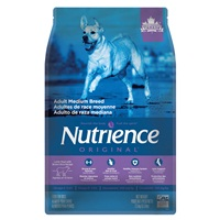 Aliment Nutrience Original, Adultes de race moyenne, Agneau et riz brun, 2,5 kg (5,5 lb)