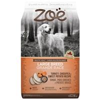 Aliment Zoë pour chiens adultes de grande race, Dinde, pois chiches et patate douce, 11,5 kg
