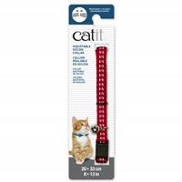 Collier réglable à dégagement rapide Catit en nylon, rouge réfléchissant, 20-33 cm (8-13po)