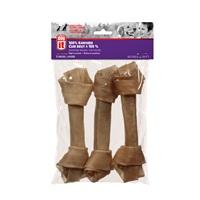 Os noué Dogit en cuir brut, grand, 20-23cm (8-9po), 300g (10,6oz), paquet de 3