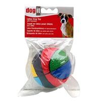 Balle multicolore Fun Toys Dogit en latex avec organe sonore, 9,5cm (3,7po)
