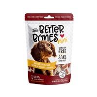Os Better Bones Zeus, arôme de poulet barbecue, mini, paquet de 12