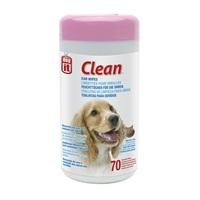 Lingettes non parfumées Dogit Clean pour oreilles, 15,2 x 20,3 cm (6 x 8 po), paquet de 70