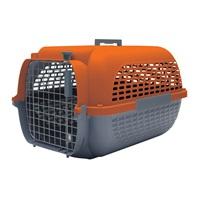 Cage Voyageur Dogit pour chiens, base anthracite avec dessus orange, petite, L. 48,3 x l. 32,6 x H. 28 cm (19 x 12,8 x 11 po)