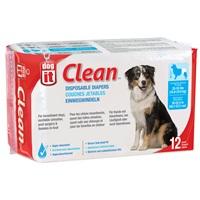 Couches jetables Dogit Clean, grandes, paquet de 12