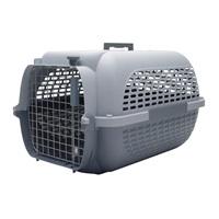 Cage Voyageur Dogit pour chiens, base anthracite avec dessus gris pâle, petite, L. 48,3 x l. 32,6 x H. 28 cm (19 x 12,8 x 11 po)