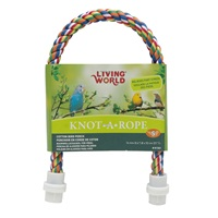 Perchoir Knot-A-Rope Living World en coton, multicolore, diam. 16 mm, long. 53 cm
