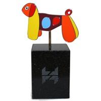 Figurine « Voir la vie en couleurs », chien, 2009
