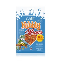 Roulades Catit Nibbly Wraps, Poulet et poisson, 30 g (1 oz)