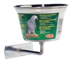Auget Living World en acier inoxydable pour perroquets, moyen, 480ml (16 oz)