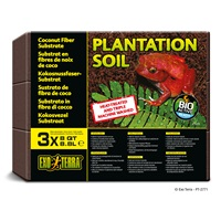 Substrat tropical Plantation Soil Exo Terra, blocs, 3 x 8,8 L (8 pte)