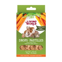 Régals Living World pour petits animaux, pastilles, arôme de carotte, 75 g (2,6 oz)