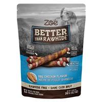 Torsades Better than Rawhide Zoë, poulet barbecue, 148g (5,2oz), paquet de12
