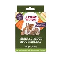 Bloc minéral Living World pour petits animaux, arôme de légumes, grand, 190 g (6,7 oz)