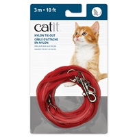 Câble d'attache en nylon Catit, rouge, 3m (10pi)