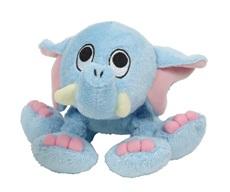 Jouet Puppy Luvz Dogit en peluche avec organe sonore, éléphant bleu, 22 cm (9 po)