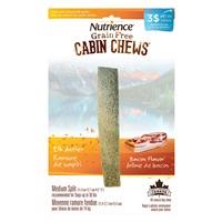 Ramure de wapiti fendue à mâcher Cabin Chews Nutrience, moyenne, arôme de bacon, 11,4-12,7 cm (4,5-5 po)