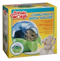 Baignoire recouverte Living World pour bain de sable pour chinchillas