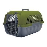 Cage Voyageur Dogit pour chiens, base anthracite avec dessus kaki, grande, L.61,9xl.42,6xH.36,9cm (24,3x16,7x14,5po)