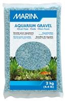 Gravier décoratif Marina, azurin, 2kg (4,4lb)