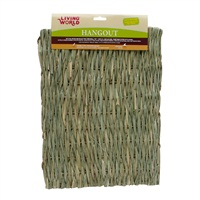 Tapis Hangout Living World en jonc naturel tissé, grand, 48 x 37 cm (19 x 15 po)