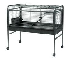 Cage prête-à-monter Living World pour lapin, gris argenté antique, moyenne, 104,7 x l. 54,9 x H. 95,8 cm (41 x 21 x 37 po)