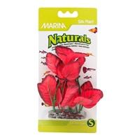 Plante d'avant-plan Naturals Marina en soie, rouge, 12,5-15 cm (5-6 po)