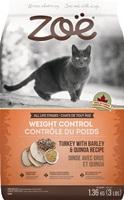 Aliment Zoë pour chats, Contrôle du poids, Dinde avec orge et quinoa, 1,3 kg (3 lb)