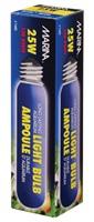 Ampoule incandescente tubulaire Marina, bleue, 25W, paquet de 1