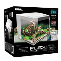Aquarium équipé Flex Fluval, blanc, 57L (15galUS)