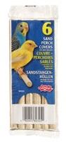Couvre-perchoirs sablés Living World pour oiseaux de petite taille, paquet de 6