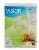 Papier pour cages Vision pour oiseaux, grand, 720 x 360 mm (28 x 14 po), paquet de 2