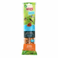 Bâtonnets Living World pour pinsons, saveur de miel, 60 g (2 oz), paquet de 2
