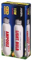 Ampoule incandescente tubulaire Marina, 15W, paquet de 2