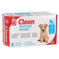 Couches jetables Dogit Clean, petites, paquet de 12
