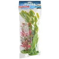 Assortiment de plantes AquaScaper Marina en plastique, 1 deschampsie (12,5cm), 1 ludwigia rouge (20cm) et 1 vallisnérie (30cm)