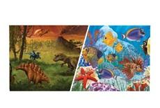 Arrière-plan réversible ClearView Marina, scène marine/dinosaures, 30,5cm x 7,6m (12po x 25pi)