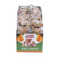 Régals Living World pour petits animaux, cornets, arôme de fruits, 40 g (1,4 oz), paquet de 10
