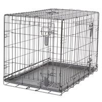 Cage grillagée Dogit à 2 portes avec grille de séparation, moyenne, 77 x 48 x 54,5 cm (30 x 19 x 21,5 po)
