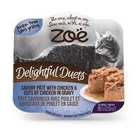 Pâté savoureux Delightful Duets Zoë avec poulet et morceaux de poulet en sauce, 80 g (2,8 oz)
