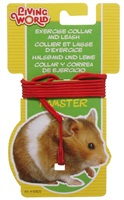 Ensemble laisse et collier réglable Living World pour hamsters, rouge
