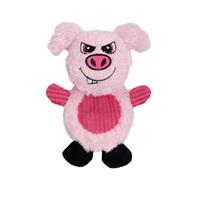 Jouet Stuffies Dogit pour chiens, peluche aplatie, cochon, 19cm (7,5po)
