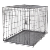 Cage grillagée Dogit à 2 portes avec grille de séparation, très grande, 106,5 x 70 x 77 cm (42 x 27,5 x 30 po)