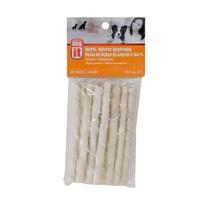 Torsades Dogit en peau de bœuf blanche, 12,7cm (5 po), paquet de 10