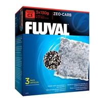 Masse filtrante Zeo-Carb pour filtre à moteur Fluval C3, paquet de 3
