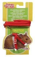 Ensemble laisse et harnais réglable Living World pour hamsters, rouge, laisse de 75cm (30po)