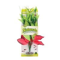 Pontédérie cordée Naturals Marina en soie, rouge et verte, grande, 33-35,5 cm (13-14 po)